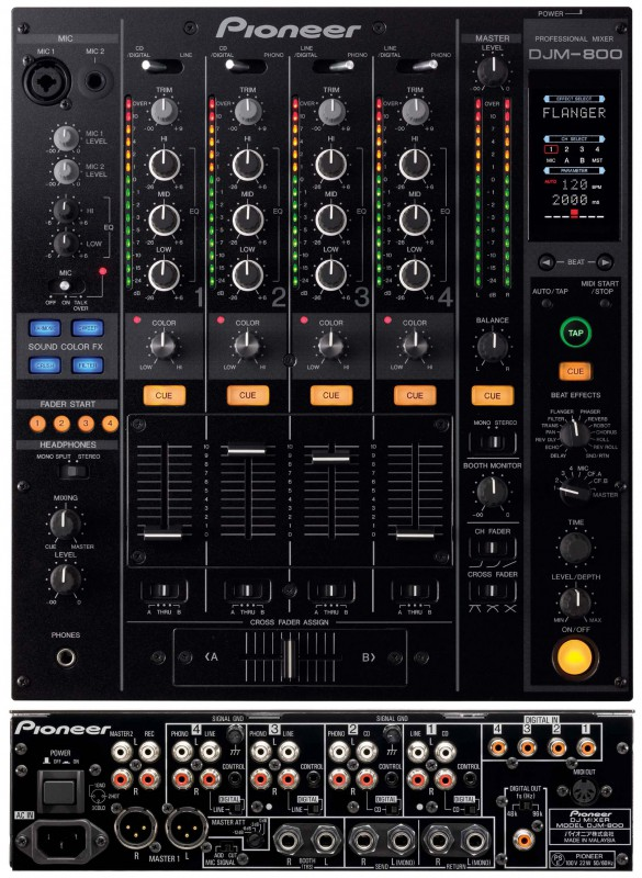 louer table de mixage djm800 pioneer sonorisation. Black Bedroom Furniture Sets. Home Design Ideas