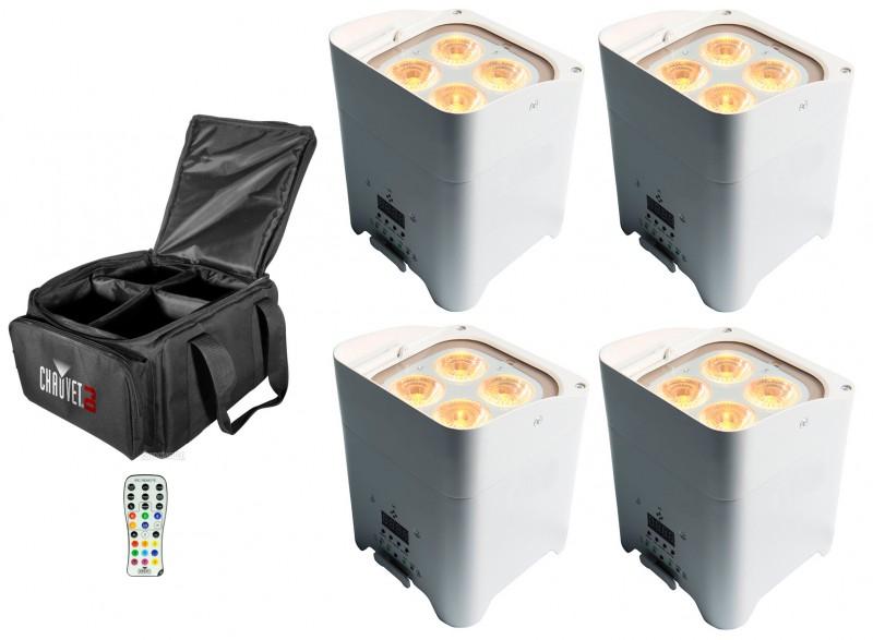 louer kit de 4 projecteurs d co sur batterie led 4 x 10w. Black Bedroom Furniture Sets. Home Design Ideas