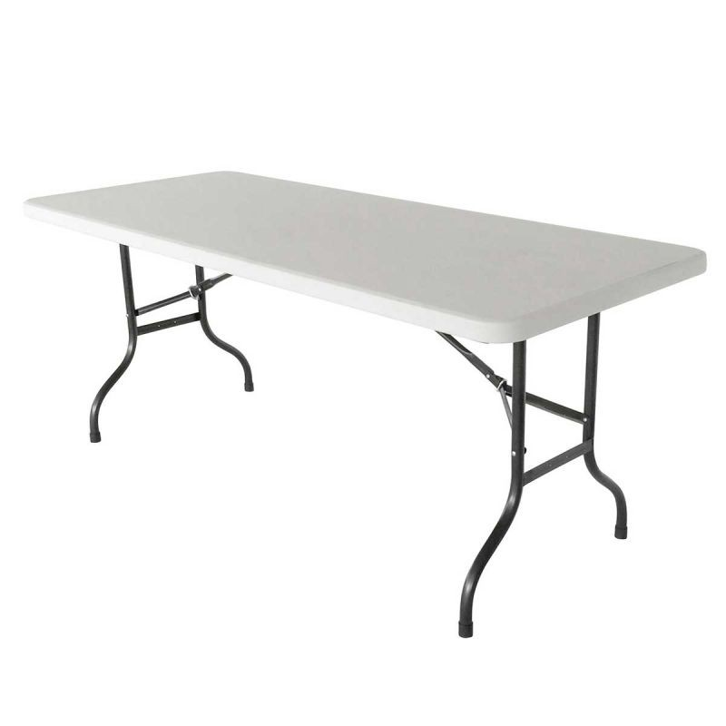 Louer table pliante rectangulaire pvc blanc 183x76 h 74cm structure et podium table Location table rectangulaire