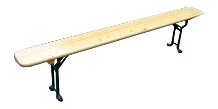 Louer banc pliant en bois 220 x 25 cm structure et podium banc audiolight location de - Location de table et banc ...